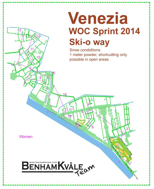 "The WOC Sprint in Venice 2014 the ""SkiO way"""